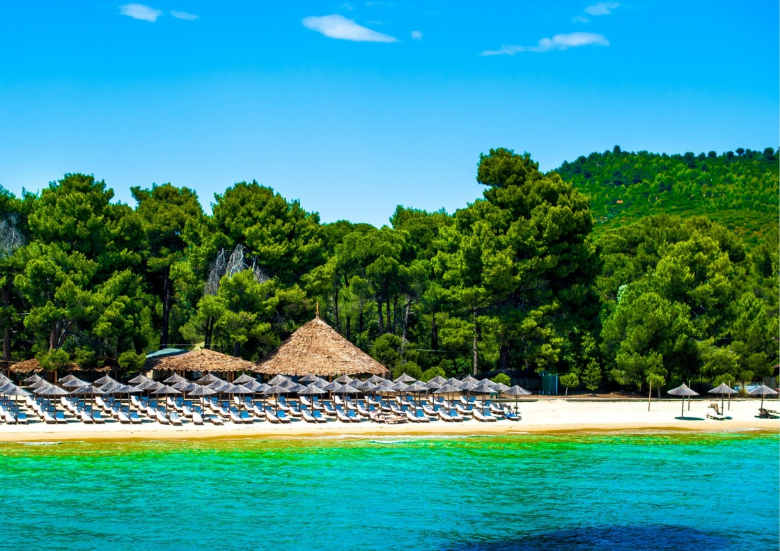 'Koukounaries beach, natural reserve pin, Greece' - Skiathos